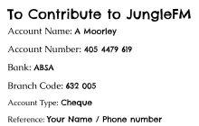 To Contribute to JungleFM